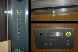 エレベーターのカゴ操作盤の写真
